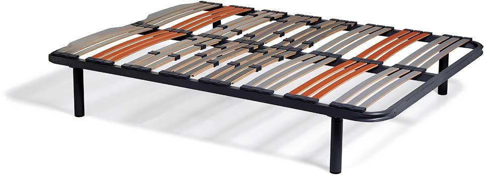 150x200  Somier de Láminas con patas redondas 26 cm