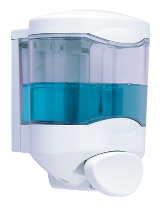 Dispensador de Jabón  CRYSTAL II 450ml pulsador anonima